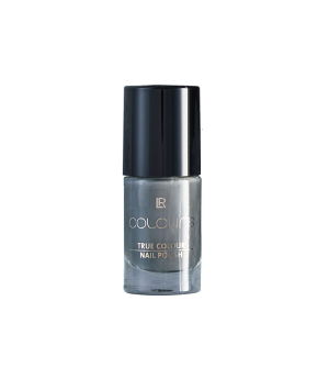 LR COLOURS Lak na nehty True Colour Dark Silvergrey - 5,5 ml