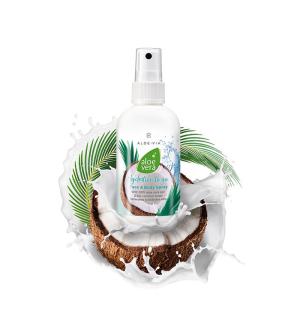 LR ALOE VIA Aloe Vera Sprej kokos na obličej & tělo